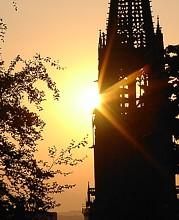 Sonnenuntergang  - Freiburger M�nster